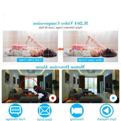 1080P 4CH CCTV WiFi Camera System Alarm