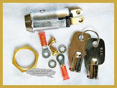 ALARM SYSTEM KEY SWITCH - LARGE  MAINTAINED, 2-KEYS, SPST 4A