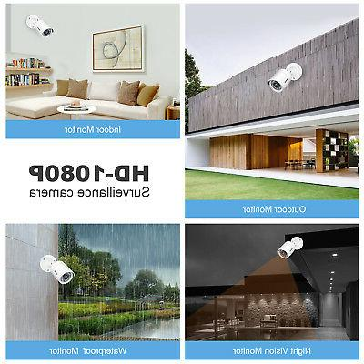 ANNKE 12x 1080P In/Outdoor Security Email Alarms 1TB