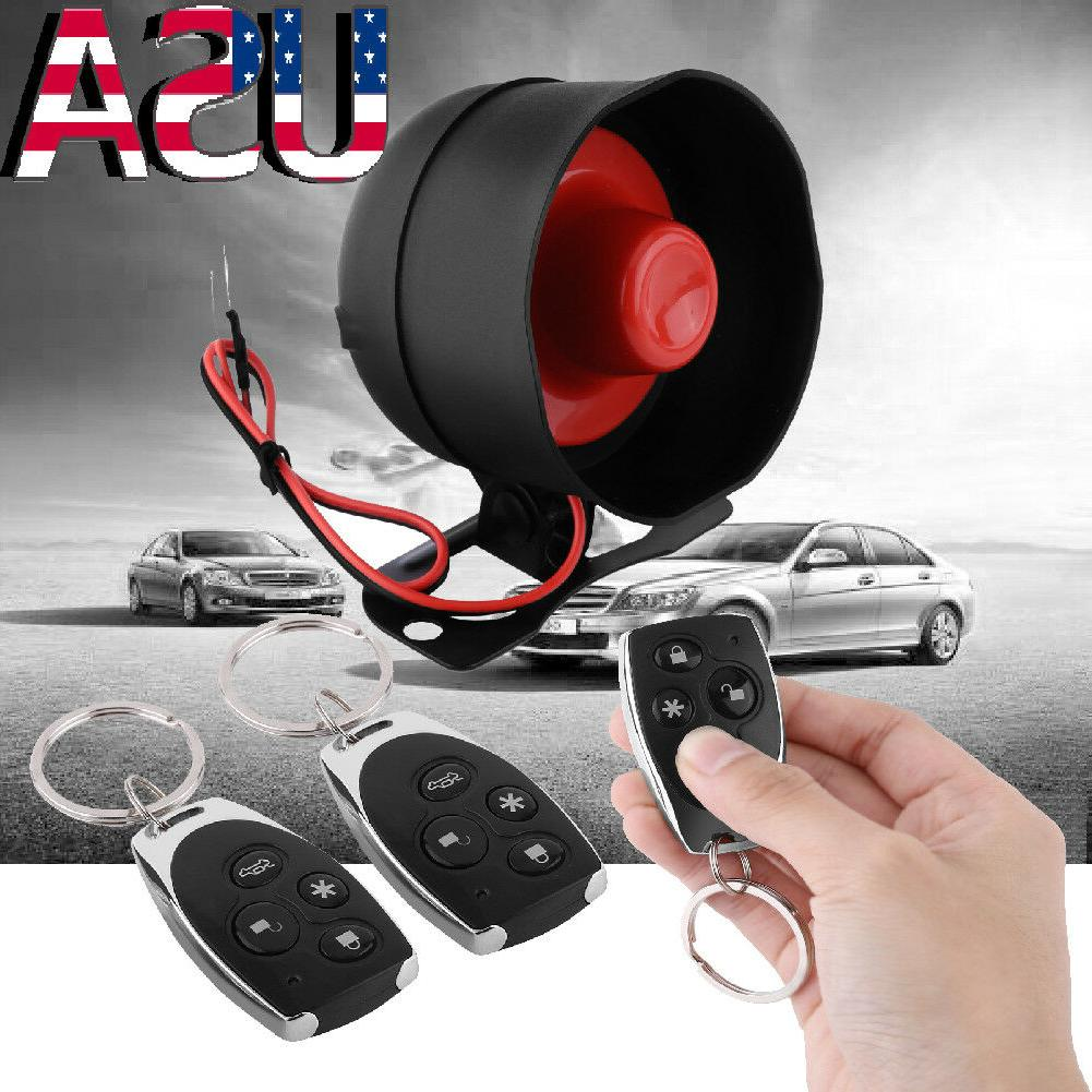 Auto Car Vehicle Burglar Alarm Protection Keyless Entry Secu
