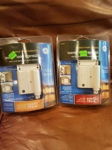 Choice Alert GE Wireless Alarm System Garage Door Sensor 45130 Set of 2