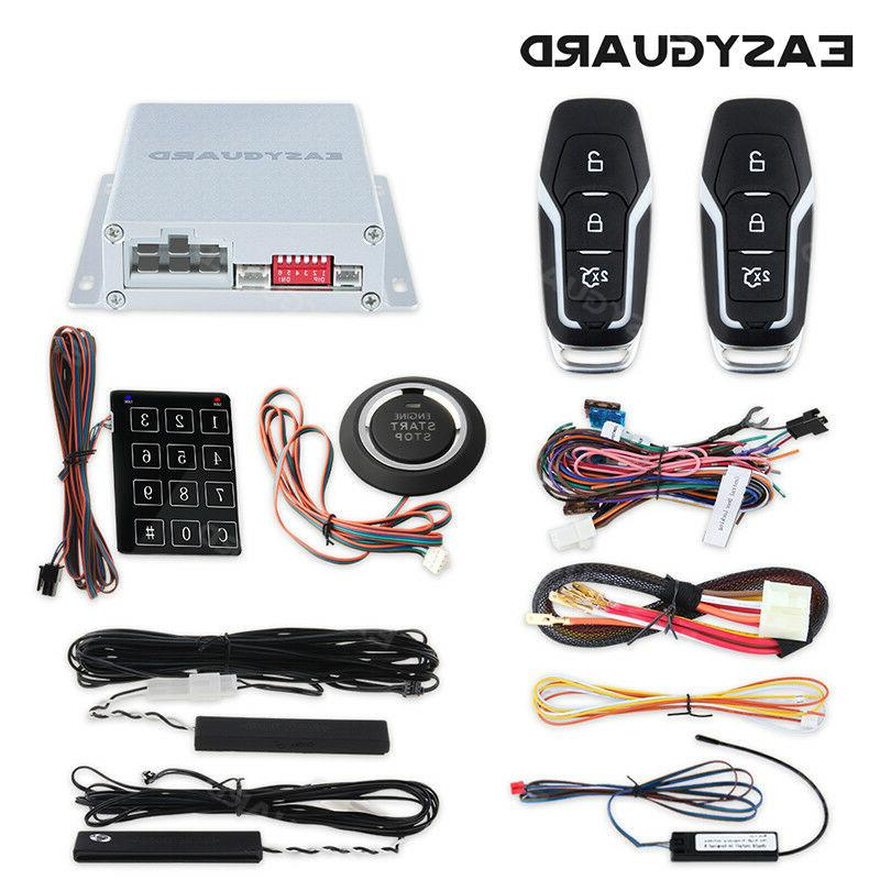 EASYGUARD PKE Car Alarm System Remote Start push button Pass