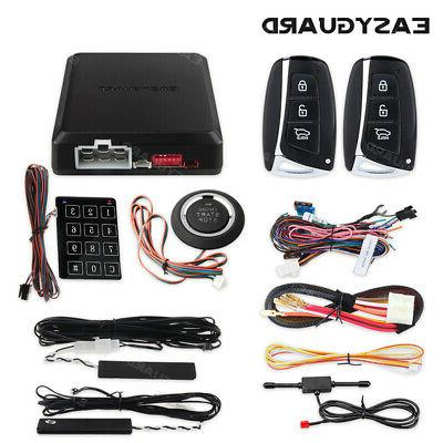 EASYGUARD pke car alarm system push button remote engine sta