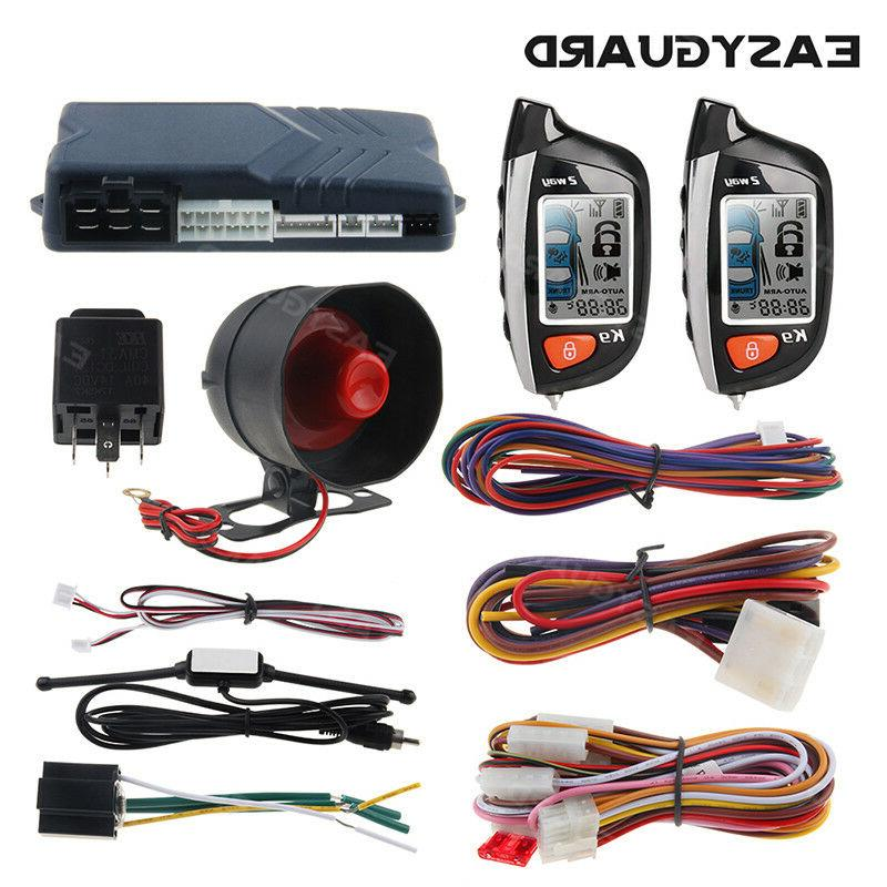 EASYGUARD remote start with keyless entry car alarm security