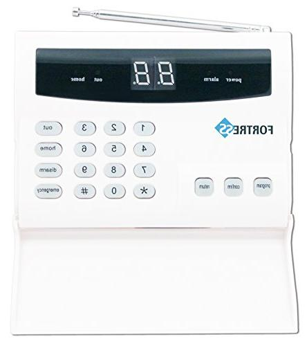 Fortress Security Alarm with Siren Smoke Detector