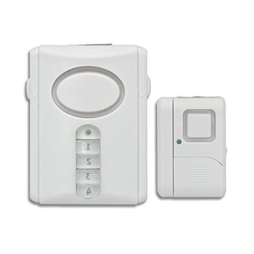 GE Personal Kit, Deluxe Door Alarm and Installation, Home Protection, Burglar Alert, Magnetic Off/Chime/Alarm,