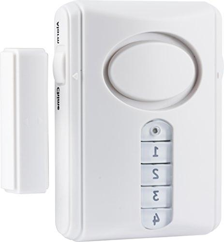 GE Personal Security Kit, Alarm Activation and Window/Door Easy Installation, Home Burglar Off/Chime/Alarm, 51107