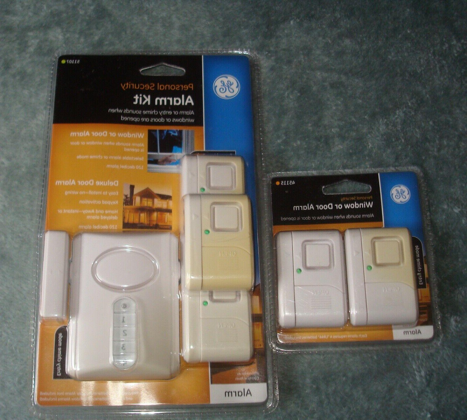 GE Kit, Door Alarm with and Installation, Burglar Magnetic Sensor, Off/Chime/Alarm,
