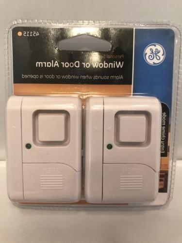GE Personal Security Window/Door Alarm, 2-Pack, DIY Home Pro