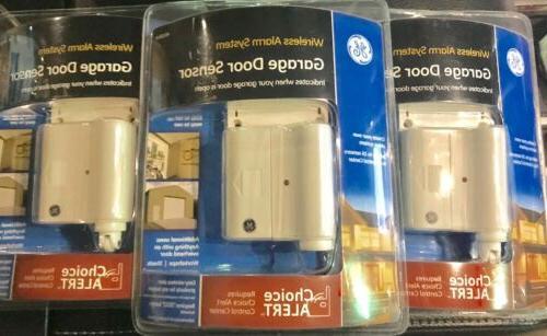 GE Wireless Alarm System Garage Door Sensor 45130 Set of 3 C
