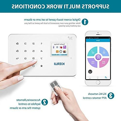 GSM System Kit - KERUI Wireless DIY Home and Business Security Burglar Alarm System by Text,not and/or