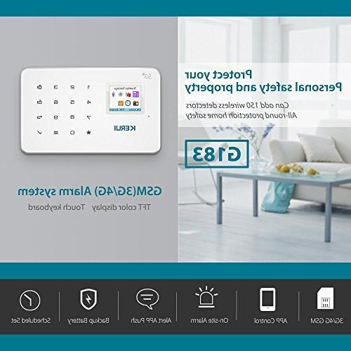GSM Alarm Wireless WCDMA Home and Business Security Alarm System Dial Easy Control by Text,not support wifi and/or