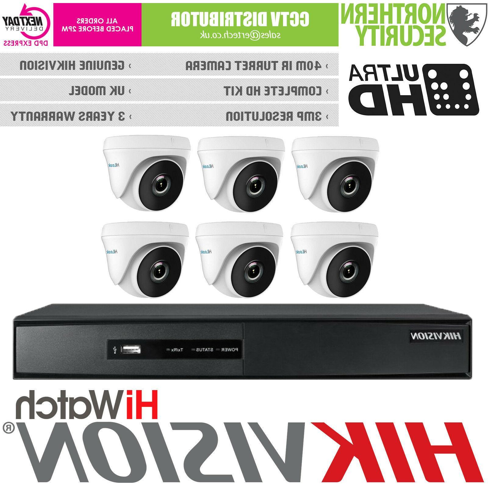 Hikvision 8 3MP 40M IR Alarm Turbo DVR Home Security Kit
