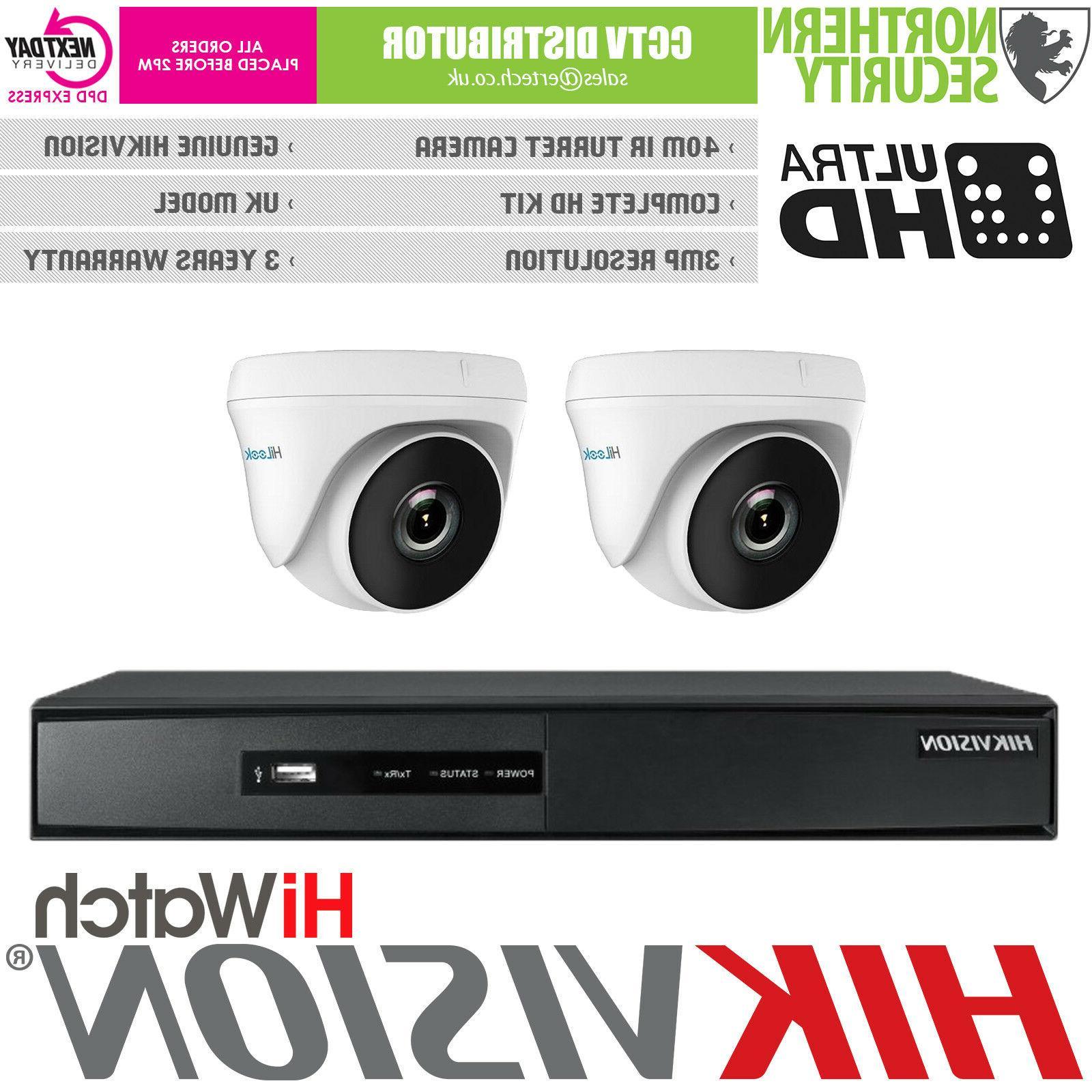 Hikvision 2 4 8 3MP IP67 40M Alarm DVR Home Kit