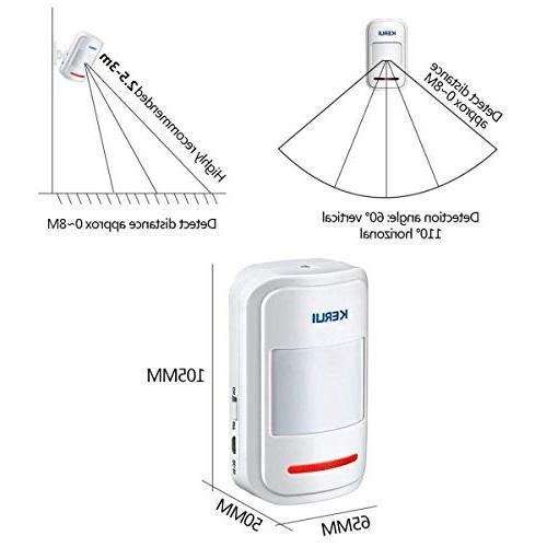 KERUI 433MHz Patrol Wireless Intelligent PIR Motion Detector GSM Alert notified of your