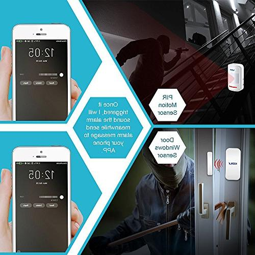 KERUI Wireless PSTN Home Alarm System DIY Android Color Display 8218G