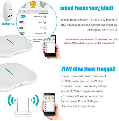 KERUI PSTN Internet Wireless Alarm Security System Dialer DIY APP Wifi IP Camera