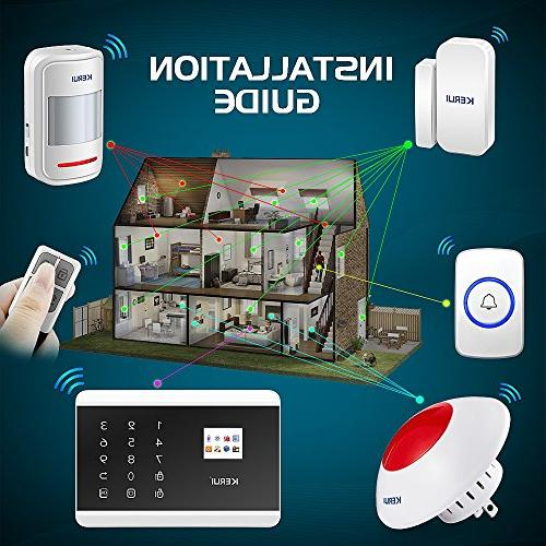 KERUI Home Security Alarm DIY Dial Android Display