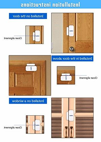 KERUI Wireless Home Doors Windows System - install BATTIRES Sensor Security Alarm