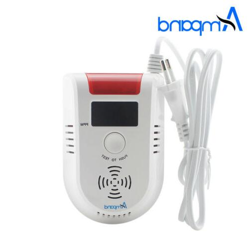 LED Digital Display voice Gas alarm system LPG Household Lea