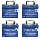 Mighty Max 4 Pack - 12V 35Ah GEL Battery for Home Alarm Secu