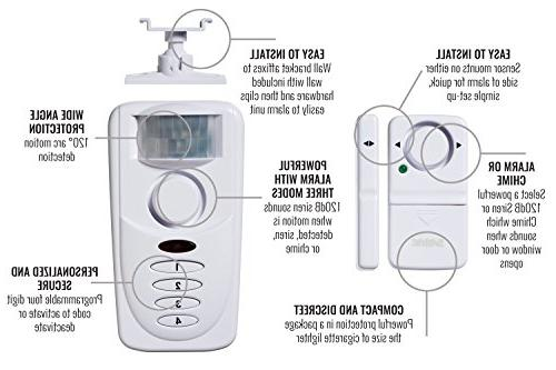 SABRE Wireless Kit – Install Window Alarm & Door Alarm w/Entry Exit Home Mode Setting Max Asleep at