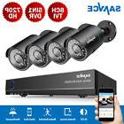 SANNCE 720P IR Night Vision Security Camera System 4CH 1080N