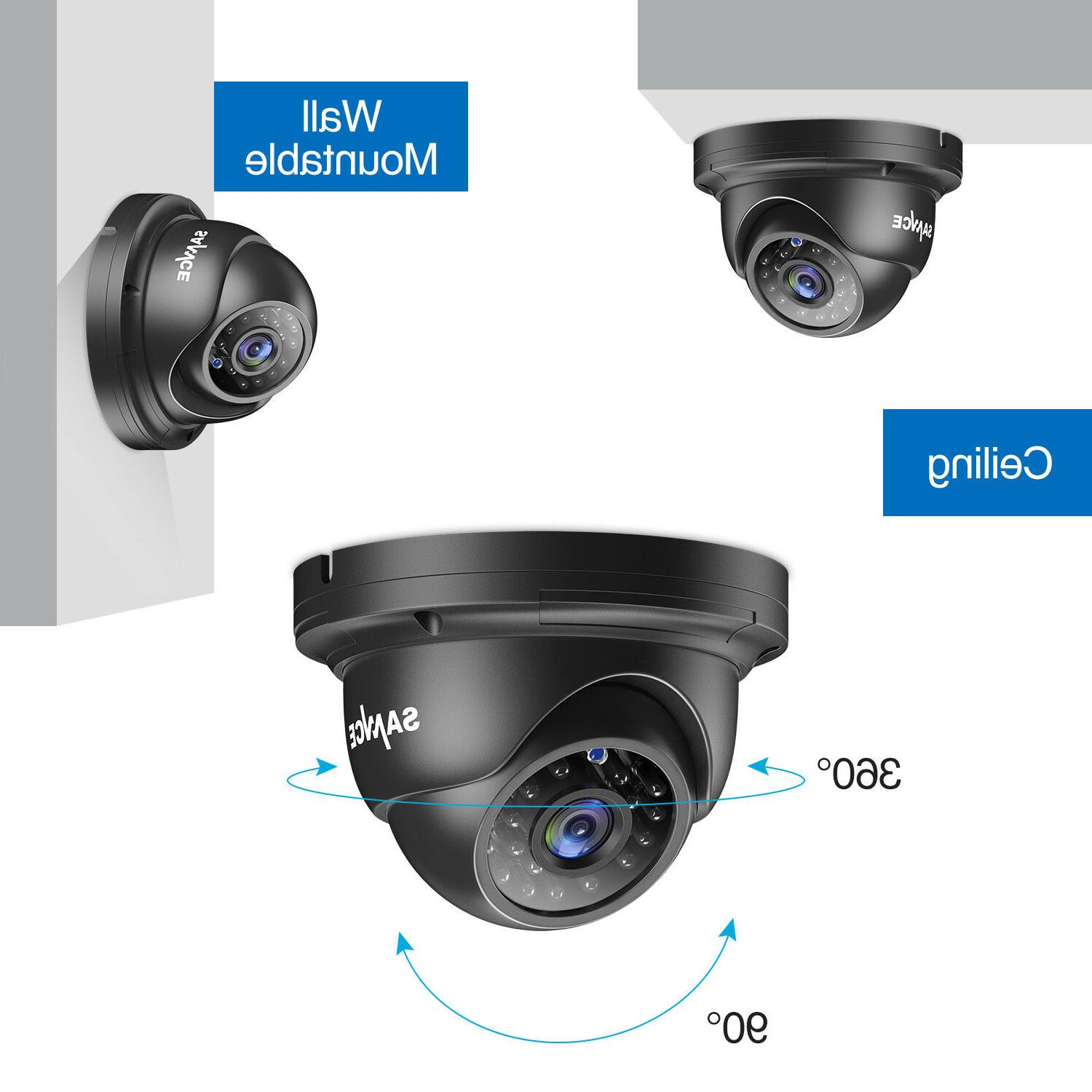 SANNCE 8CH DVR Night Vision Security Camera System