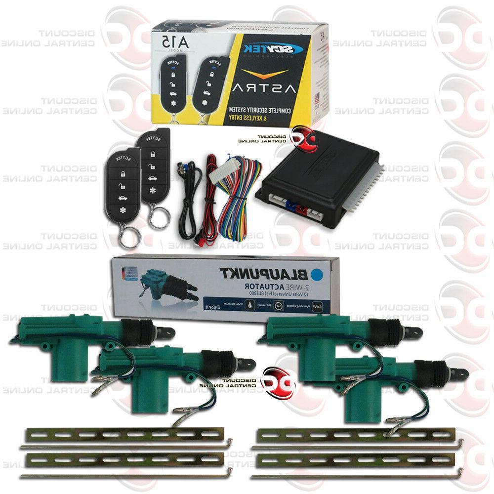 SCYTEK CAR ALARM SYSTEM WITH KEYLESS ENTRY PLUS 4 x CAR 2-WI