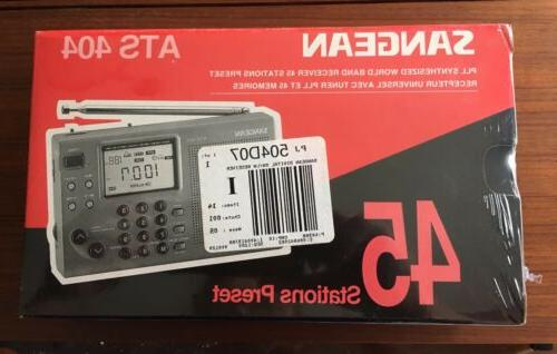 Sangean ATS 404 AMFMShort Wave PLL Synthesized Portable Radi