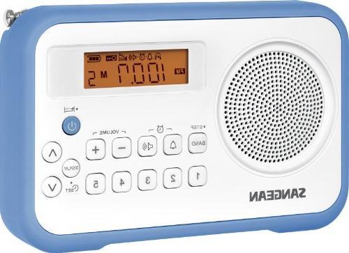 Portable Digital Radio with Protective Bumper Sangean PR-D18BU AM //FM