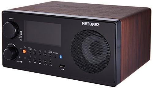 Sangean WR-22WL AM/FM-RDS/Bluetooth/USB Table-Top Digital Tu