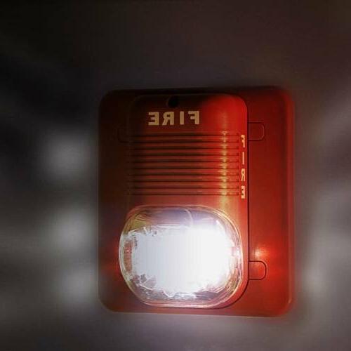 Sound & Light Alert Safety System Sensor Fire Alarm Warning