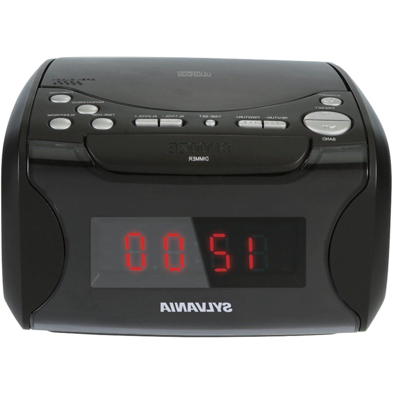 SYLVANIA Usb-charging Cd Dual Alarm Clock Radio SCR4986