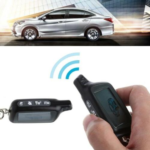 Two Way Car Alarm System LCD Remote Controller For Russian V
