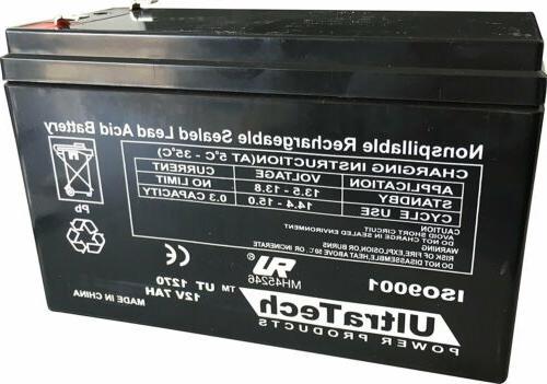UltraTech UT1270 12V 7 Ah Sealed Lead Acid Alarm Battery UT-