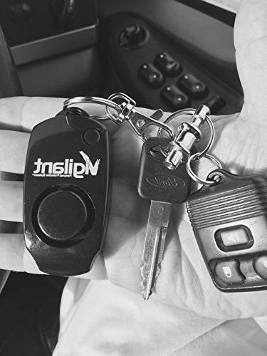 Vigilant 130dB Alarm - Backup Button Off Bag Purse Key Keyring Clip - Kids