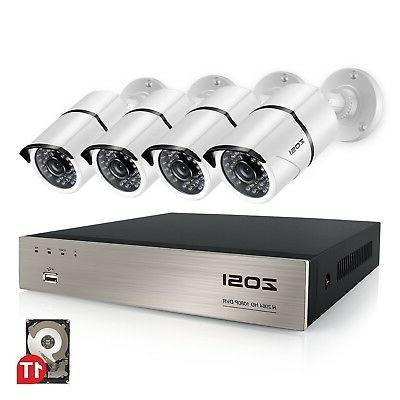 ZOSI 8CH Full True 1080P Video Security DVR 4X 1080P HD Outd