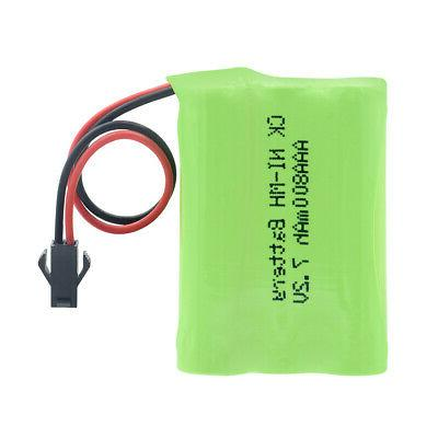 AA RECHARGEABLE BATTERY PACK 7.2V PLUG FOR ALARM SYSTEM