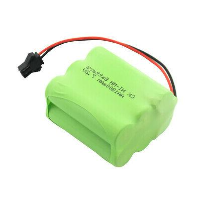 AA RECHARGEABLE NI-MH BATTERY PACK 7.2V PLUG FOR ALARM SYSTEM