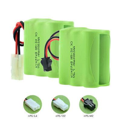 AA AAA RECHARGEABLE BATTERY PACK 7.2V PLUG RC