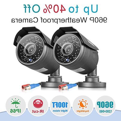 AHD 8CH 1080N Security DVR 1TB System 8xHD Outdoor CCTV Cameras, Technology, Alarm Push