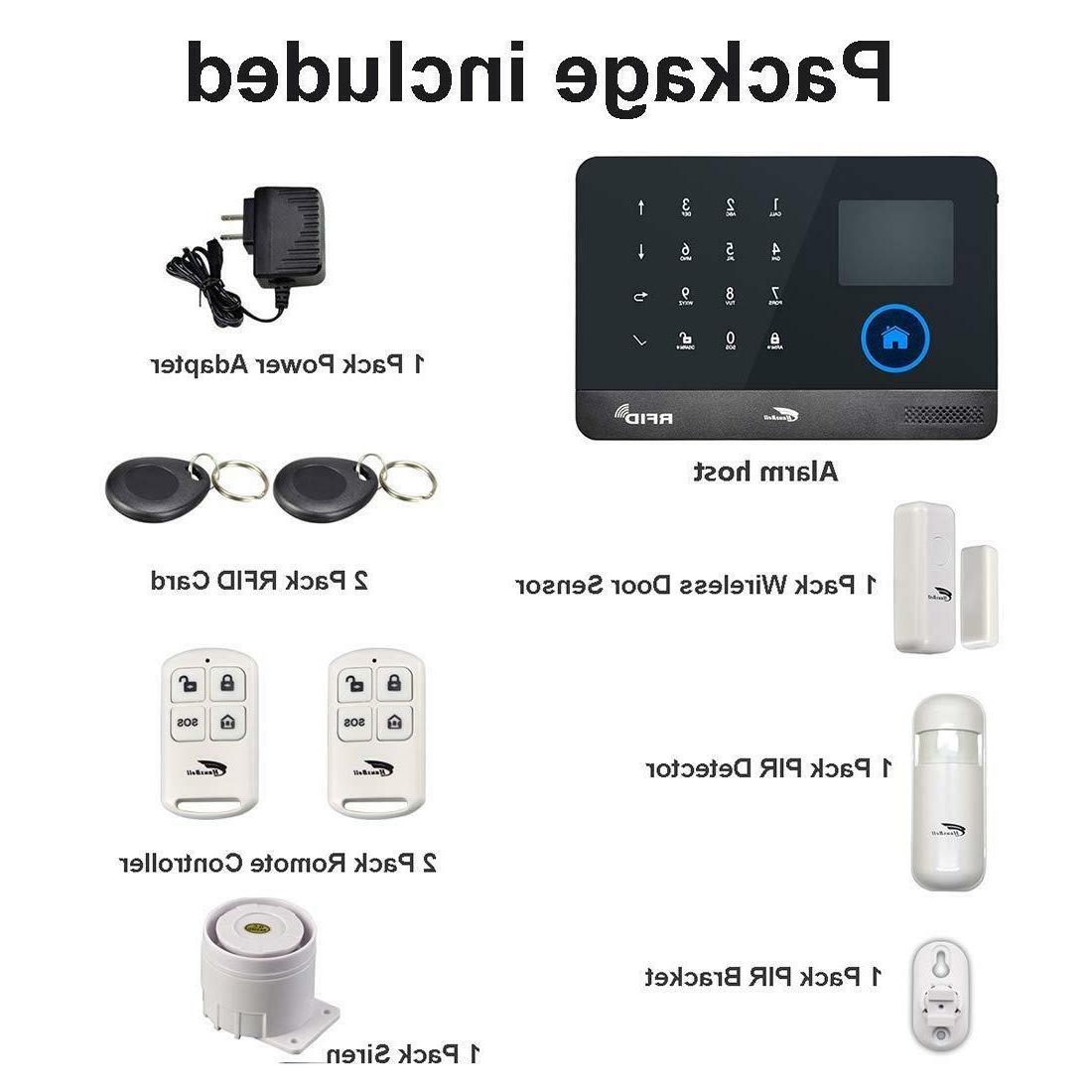 Hausbell Home System,3G WiFi Wireless GSM Security A