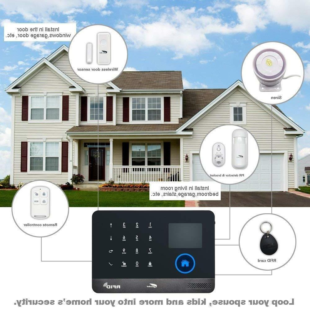 Hausbell Alarm Home System,3G & 2in1 Wireless Smart A