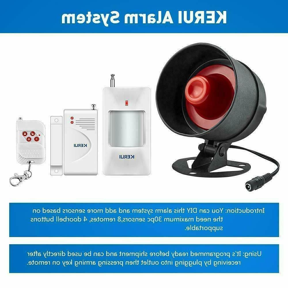 Alarm Security System Siren Remote Sensor Outdoor