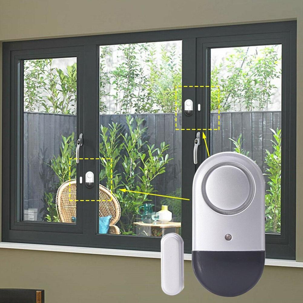 Security Detector Stick On Guard Door Window Home Burglar <f