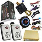 auto car alarm system with smart keyless entry ignition butt