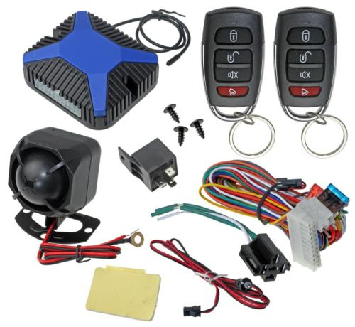 Car Alarm Security & Keyless Entry System, Trunk Pop With Tw