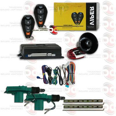 car alarm with 2 remotes and keyless