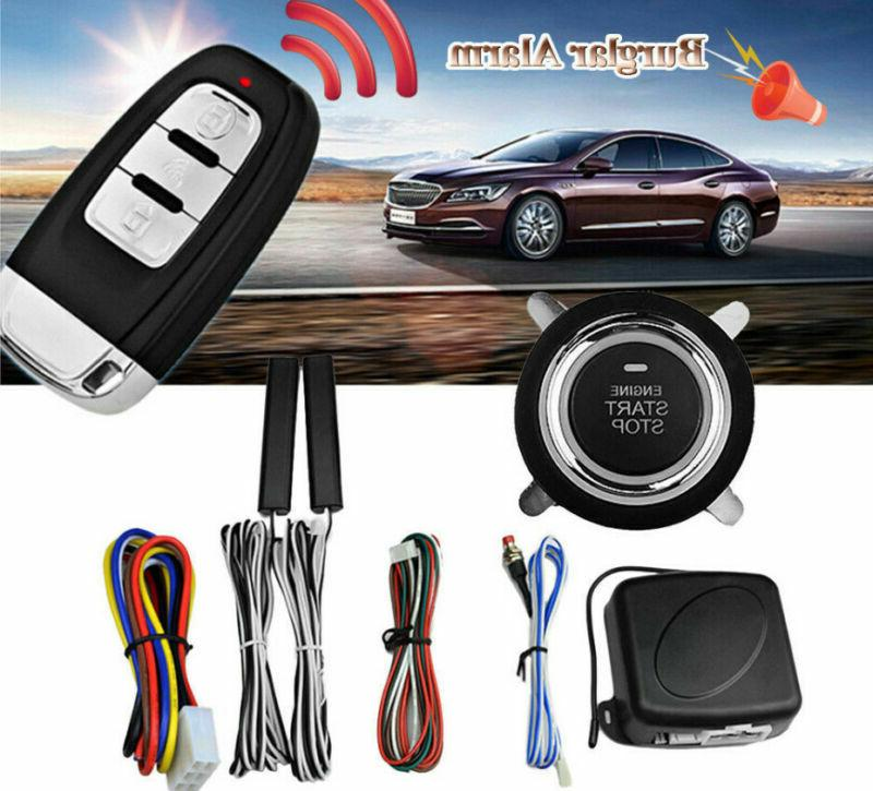 Car Auto Alarm System Security Keyless Entry Push Button Rem